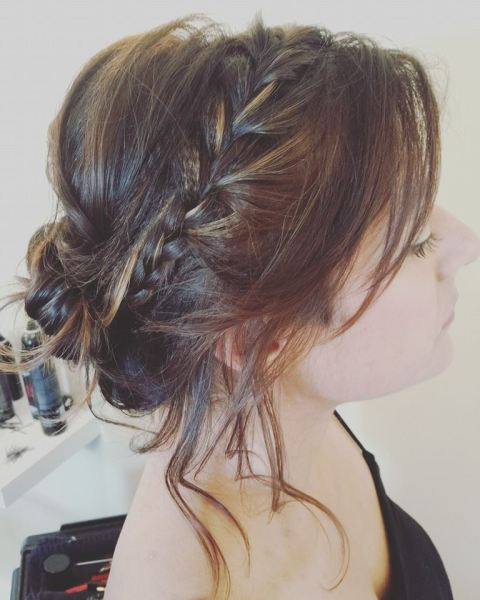 Bridal Soft Braided Updo
