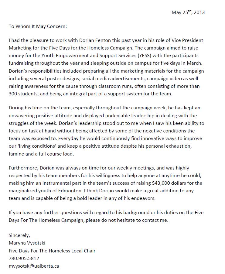 5-Days-for-Homeless-Letter