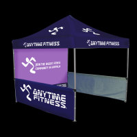 Printed gazebo with printed walls , Anytime fitness 3m x 3m