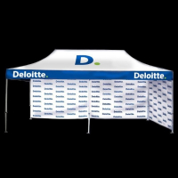 6m x 3m printed-gazebo for Deloitte with printed walls