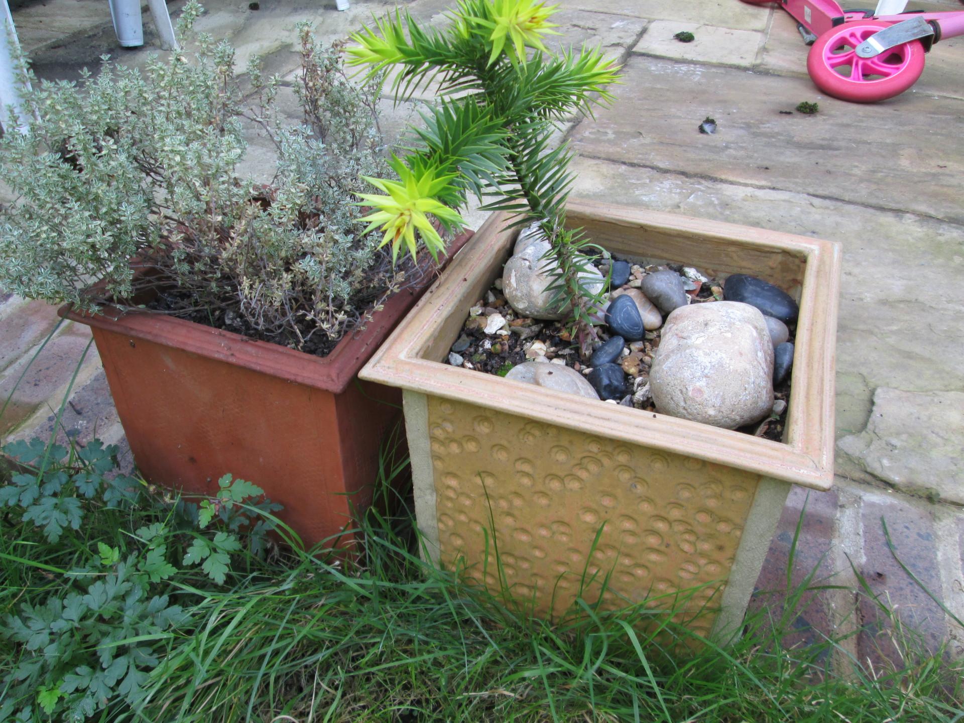 slab built planters