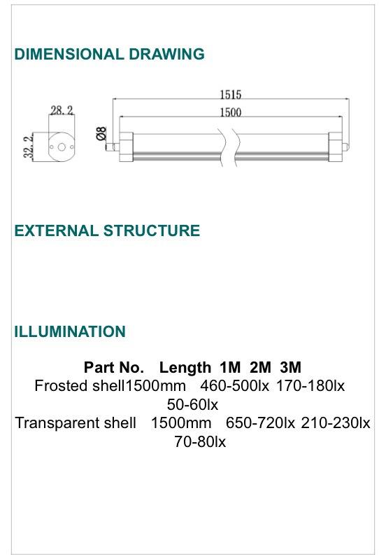 T8 LED TUBE LIGHT [G-LTC1P-TC5FT][G-LTC2P-TC5FT]