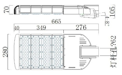 LED STREETLIGHT N5 SERIES ( G-LPLS-C200W) SPECIFICATIONS