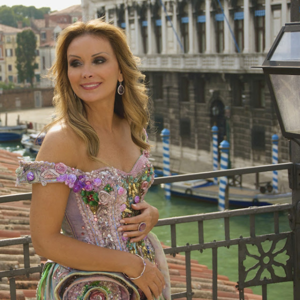 Wearing The Princess of Romance dress in Venice