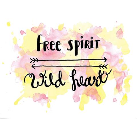 Free Spirit Wild Heart Square