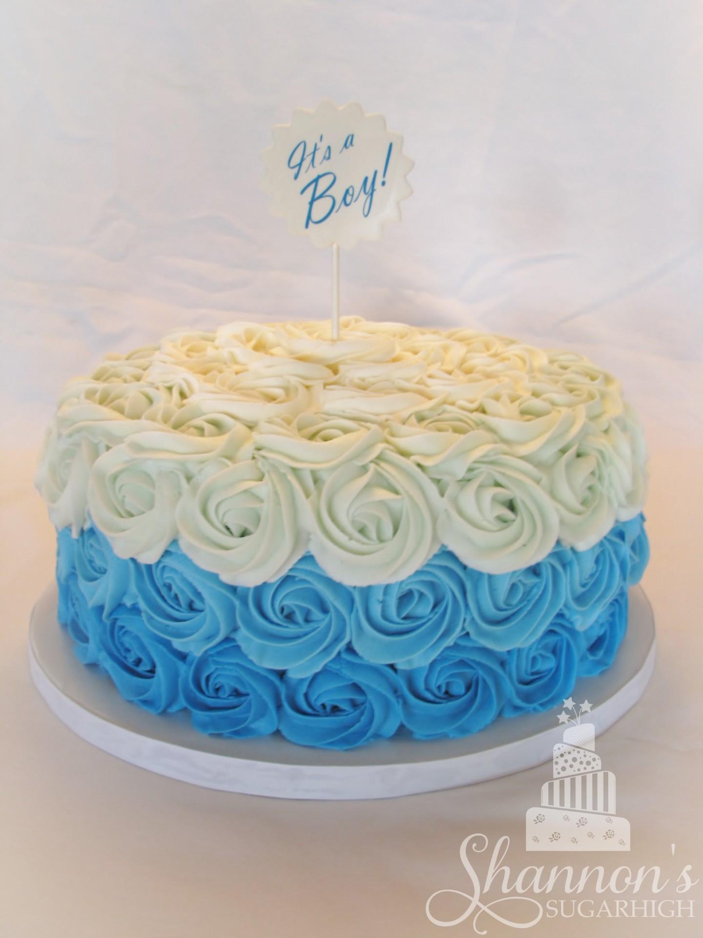 Blue Ombre Rosette