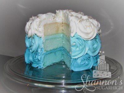 Teal Ombre Rosette