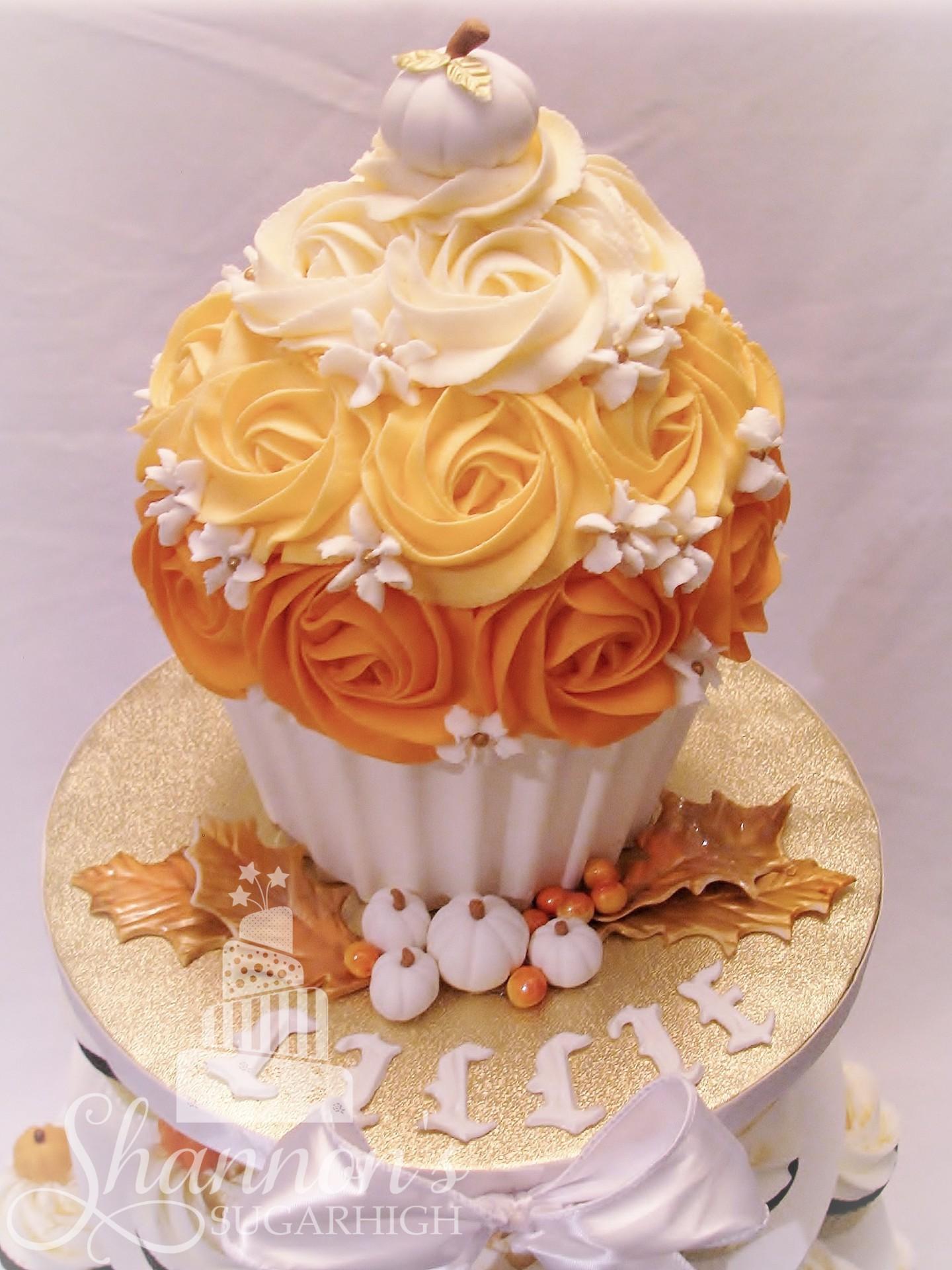 Giant Fall Cupcake