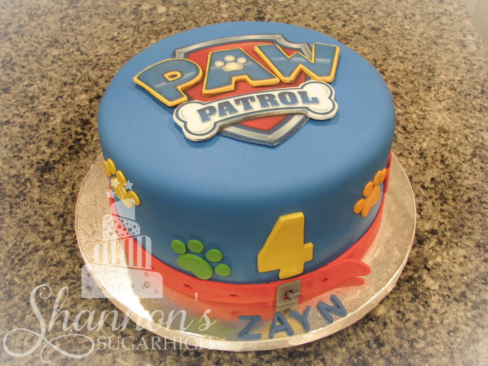 how to make a paw patrol cake easy