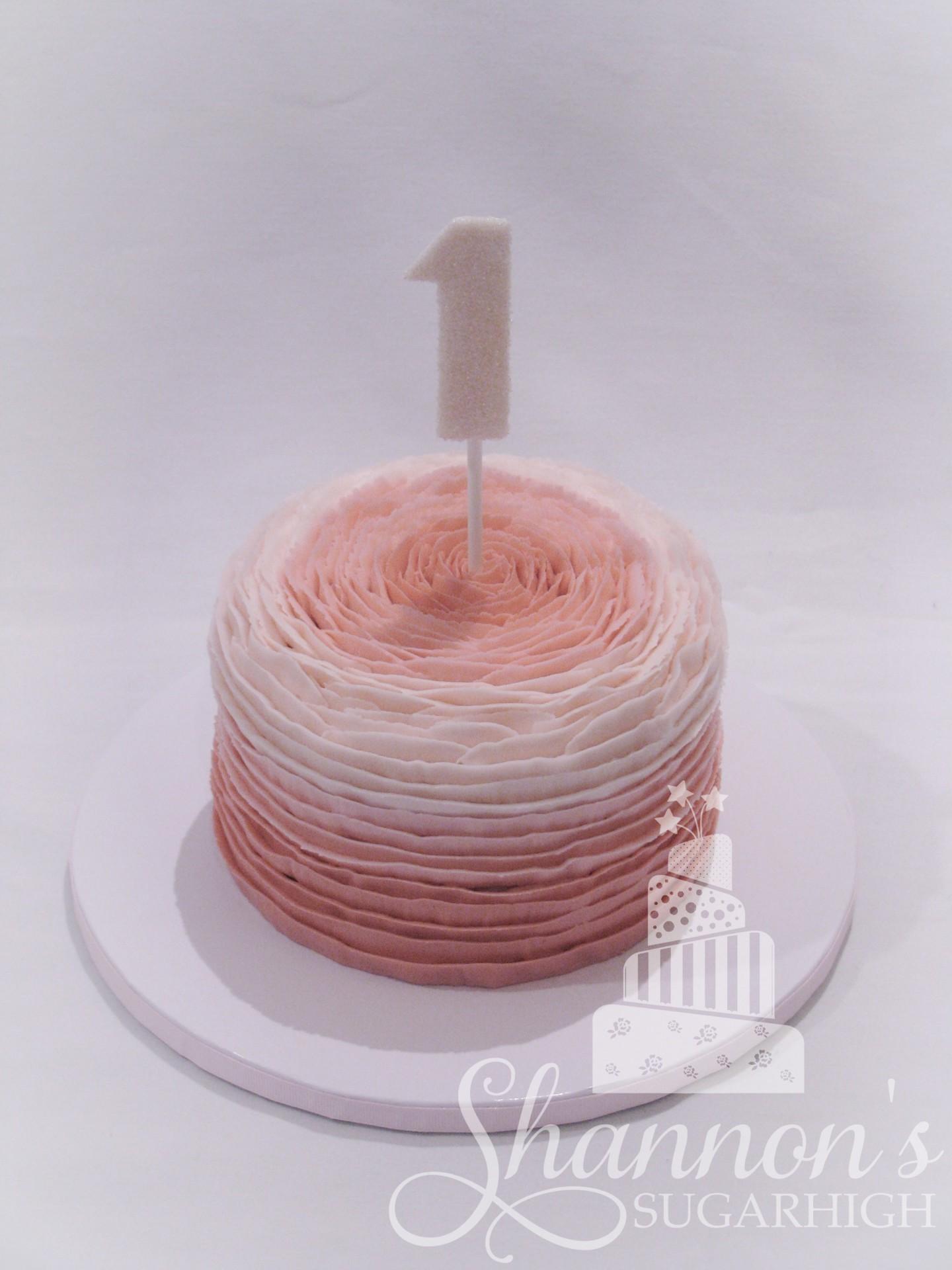 Rose Smash Cake