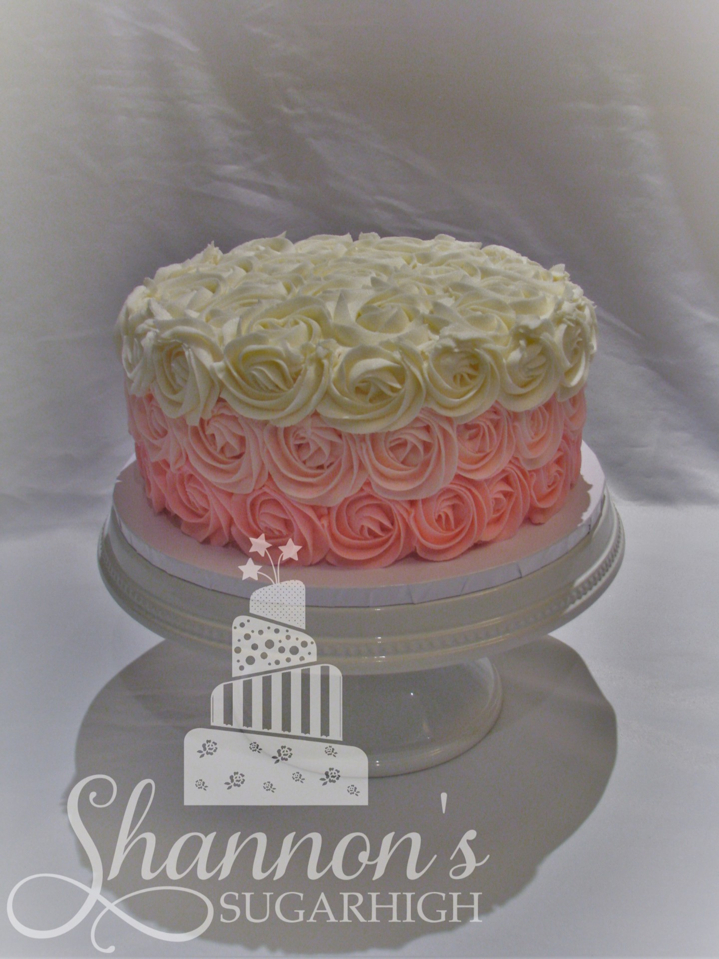 Pink Ombre Rosette