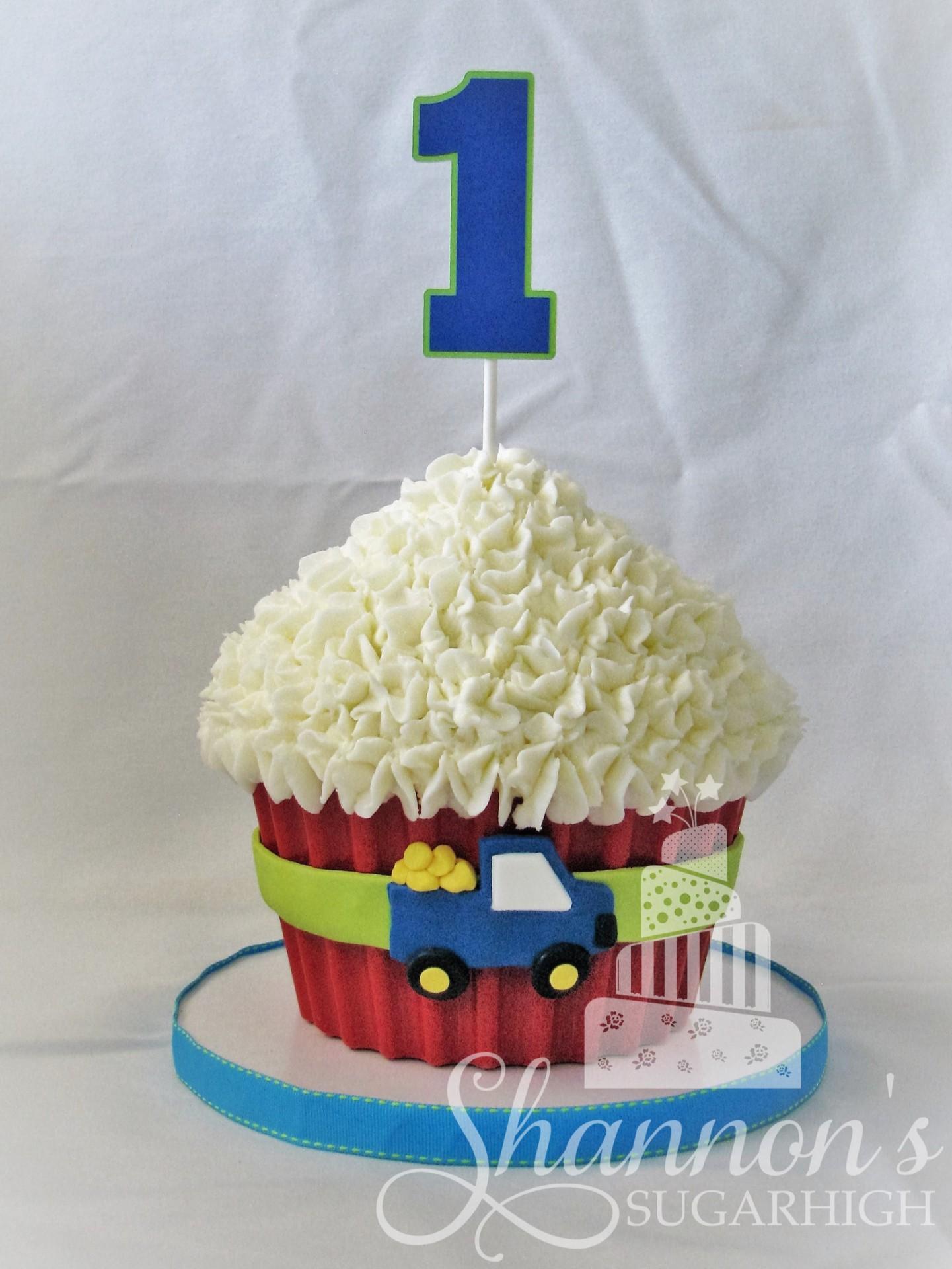 Truck Smash Cupcake