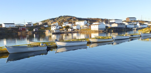 Fogo harbour, floating wharf