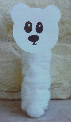 WATER BOTTLE POLAR BEAR  A cute way to recycle water bottles!