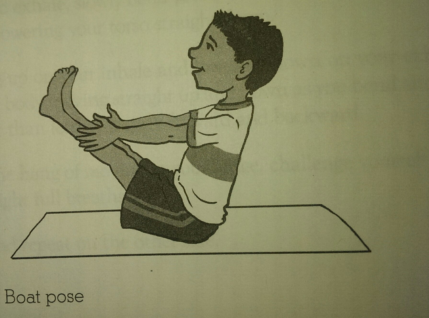 Yoga for Kids Strength Boat Pose