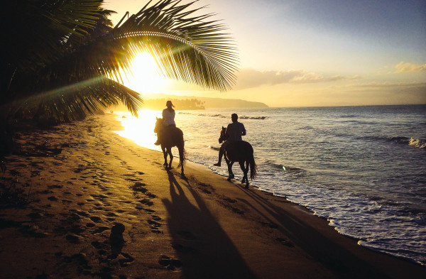 Horseback-riding-at-sunset-on-the-beach-near-Las-Terrenas-by-Patrick-Bennett1