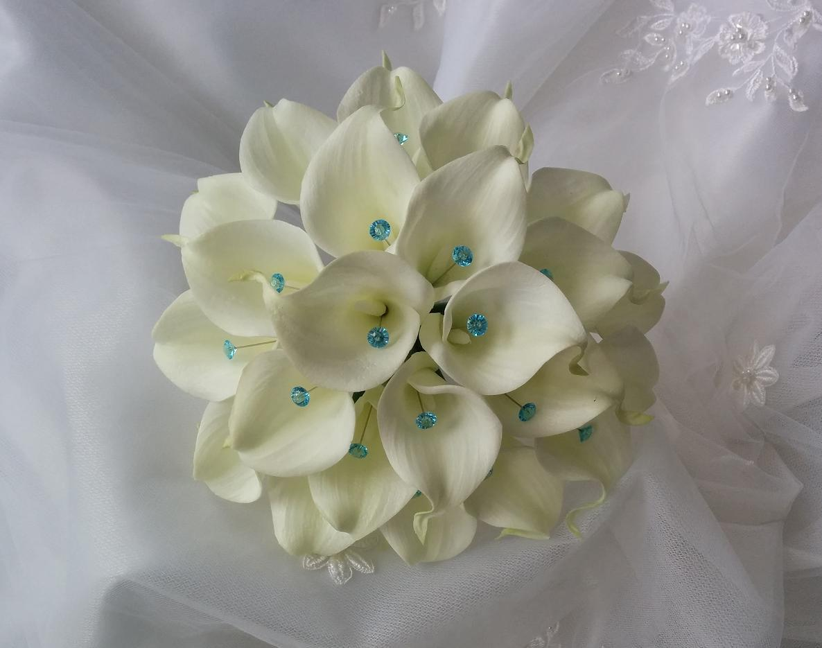Beach Wedding flowers bouquet, silk wedding bouquet, destination wedding, silk wedding flowers bouquets CANADA Silk Calla Lilies bouquet