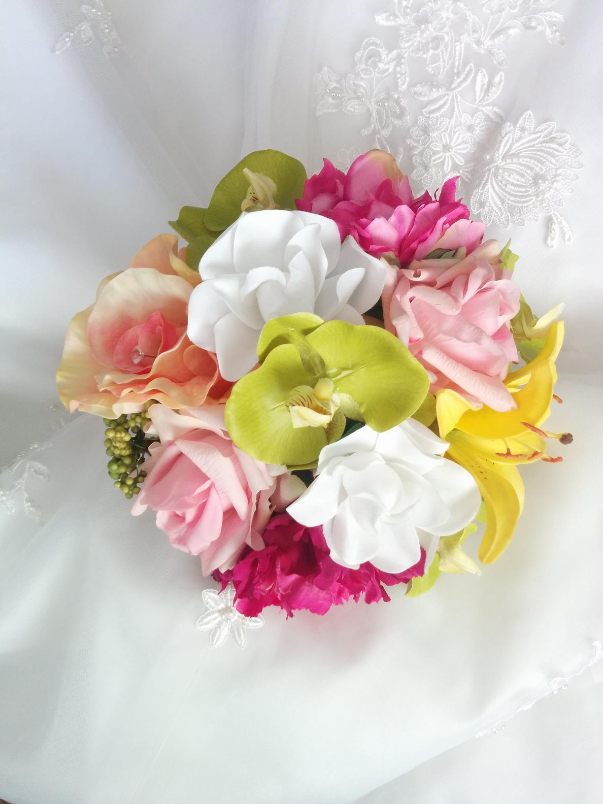 Silk Wedding Bouquets, Natural Touch wedding Flowers, Silk wedding flowers, real touch wedding flowers, silk wedding flowers in Canada and USA, beach wedding bouquets, destination wedding flowers