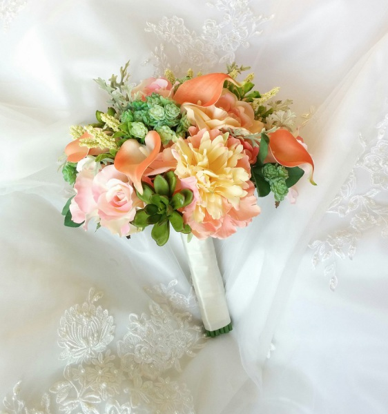 Beach Wedding flowers bouquet, silk wedding bouquet, destination wedding, silk wedding flowers bouquets CANADA Silk Rustic bouquet
