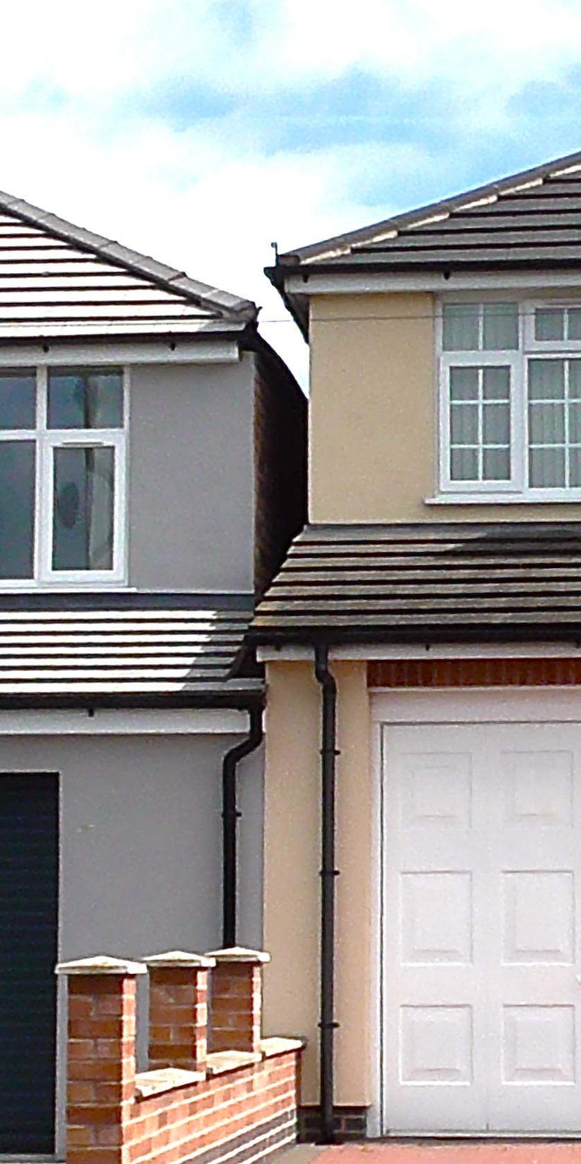 houses built close together, party wall scenario