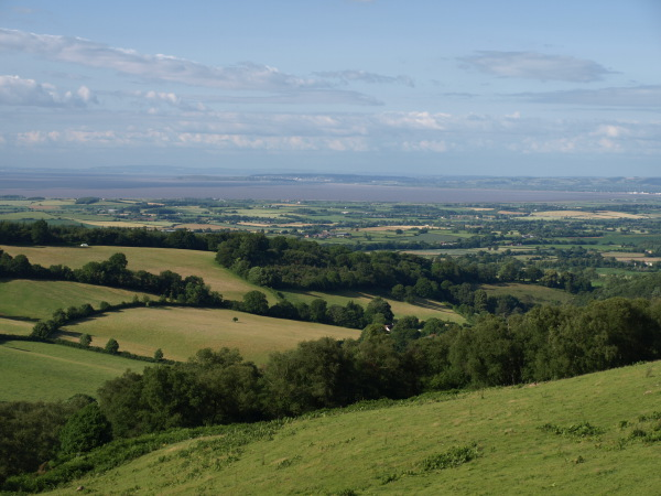 View from Aley to Bridgwater Bay