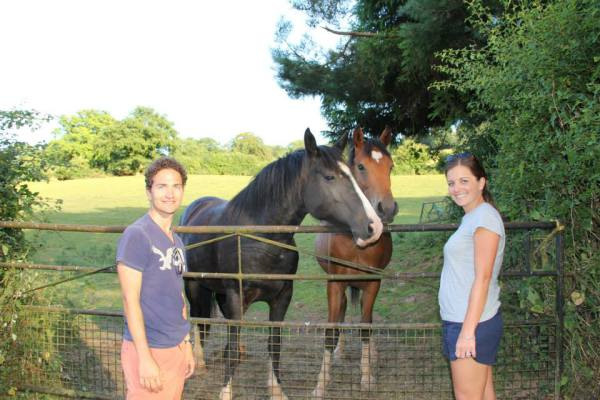 Alastair Sarah with ponies