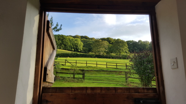 View from sitting room door