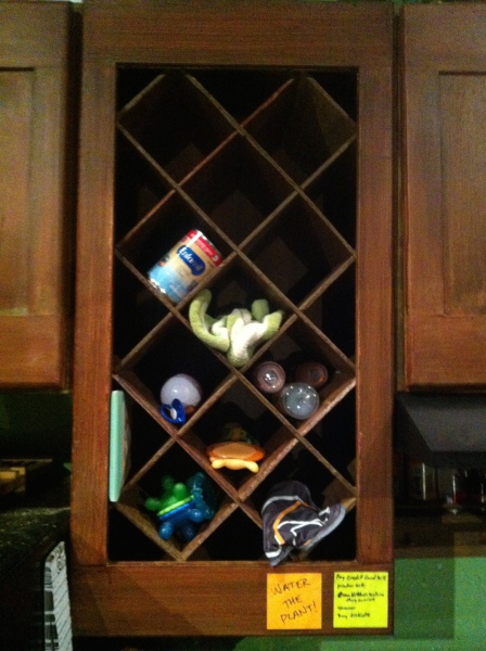 Competed wine rack