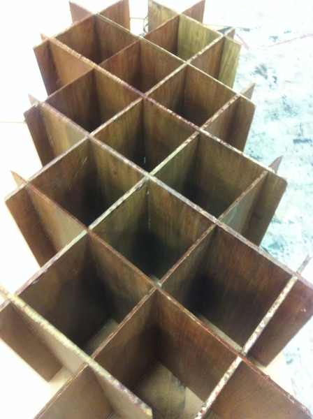 Wine rack interior