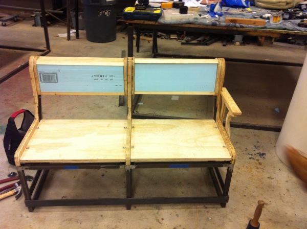 Bench assembled