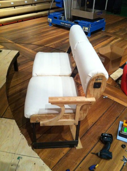 Bench test upholstery