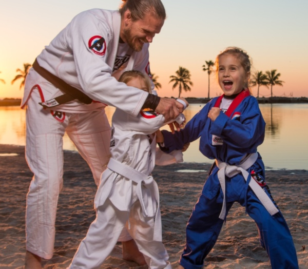 kids teach martial arts class