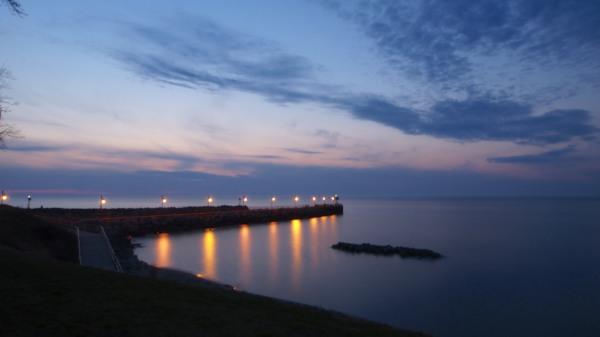Miller Park Fishing Pier at Dusk
