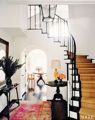 A stunning black framed entrance hall