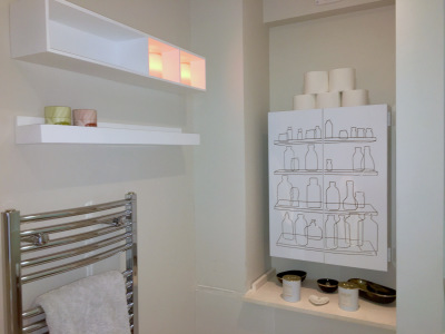 Bathroom storage detail
