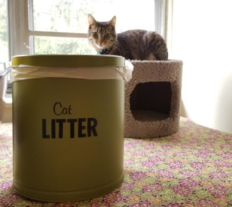 DIY Cat Litter Container