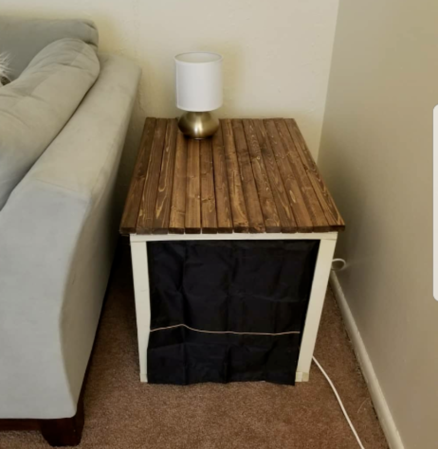 Diy Dog Crate Endtable