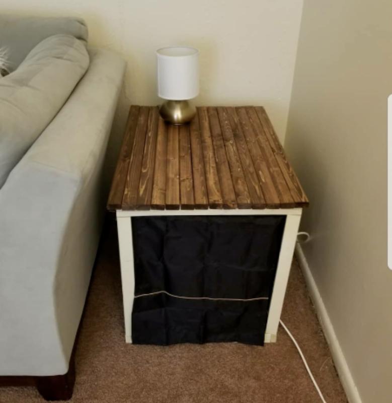 DIY Dog Crate Endtable
