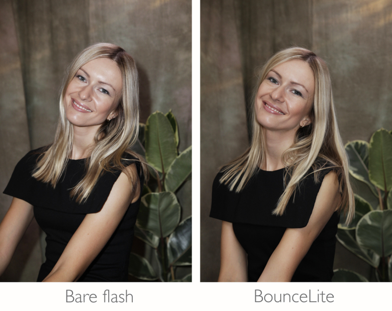 bounceLite, flash diffuser, modifier, bounce light, photography, filtration, bounce light,  strobe, hot shoe, gary fong, lightsphere, rogue, flashbender, stofen, fotocapio, photokina, kickstarter, speedlite, CTO, filter gel, tungsten, photo lighting