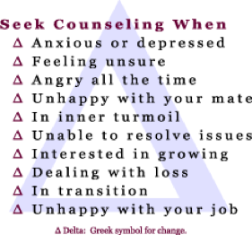when to seek counseling