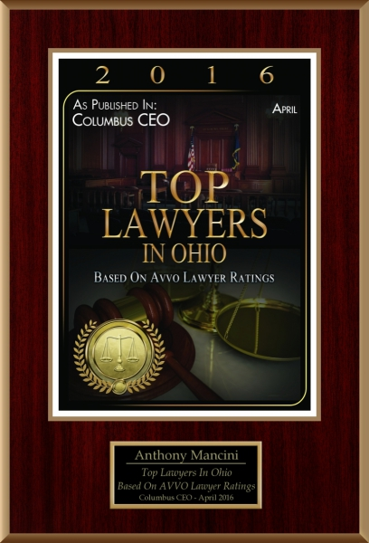 "Mancini Law Group P.C. Named ""Top Lawyers in Ohio"" as published in Columbus CEO"