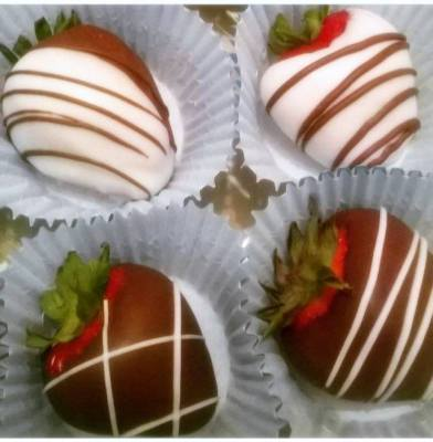 Milk and White Chocolate Strawberries