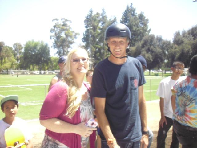 Tony Hawk opens skateboard park