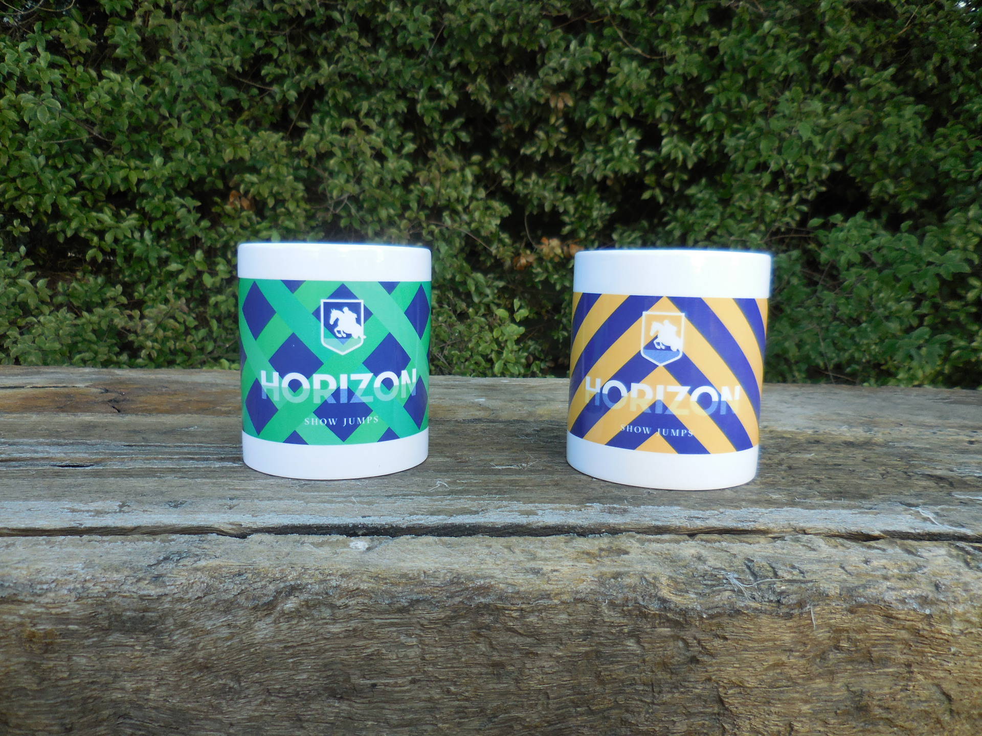 Horizon Show Jump Mugs