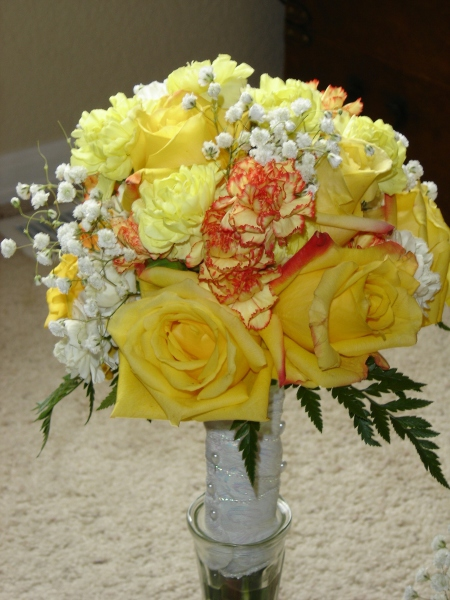 Sherry Norrington's renewal bouquet (yellow)