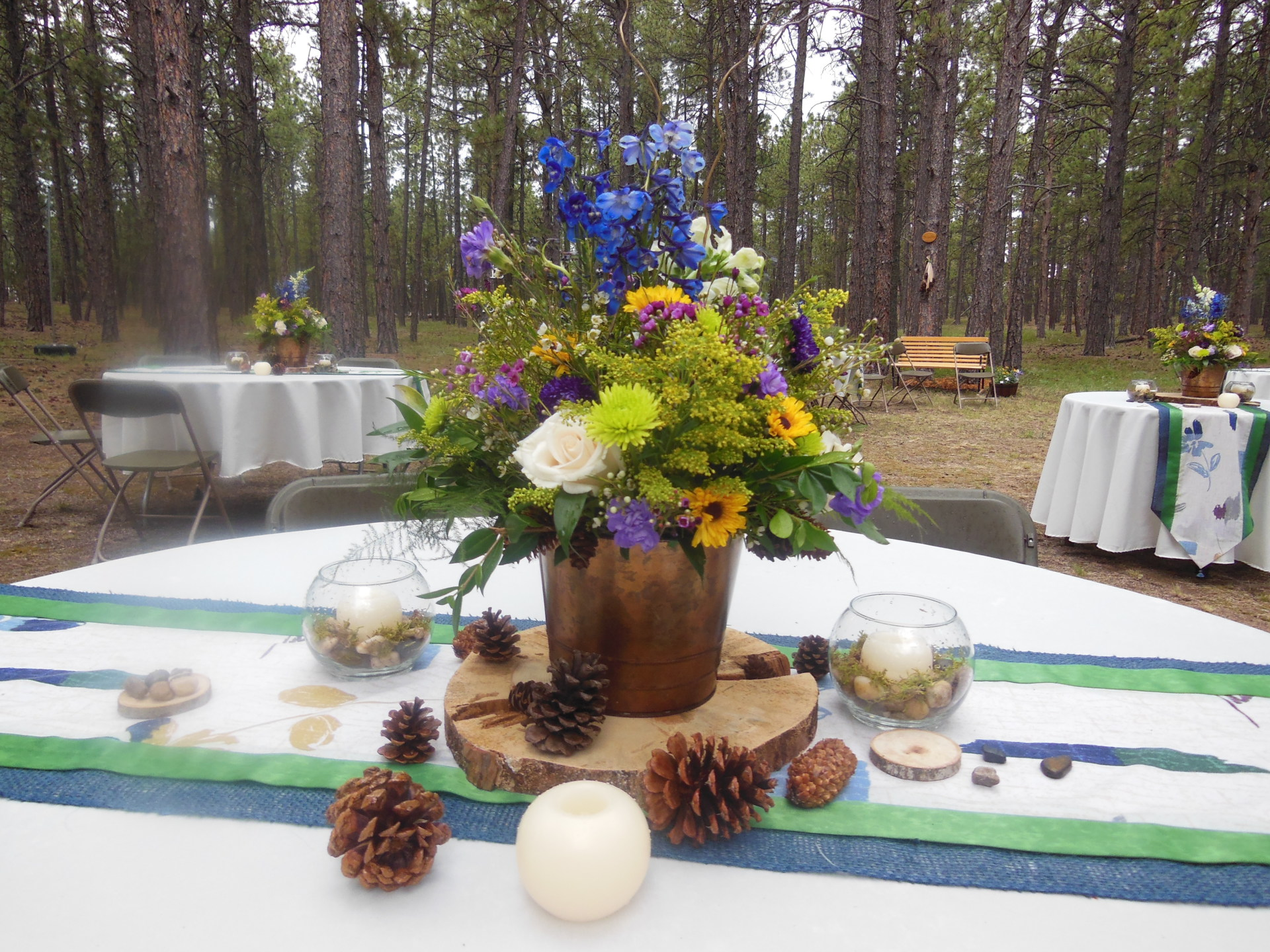 Shalini's daughter outdoor reception decor tables (7-13-13)