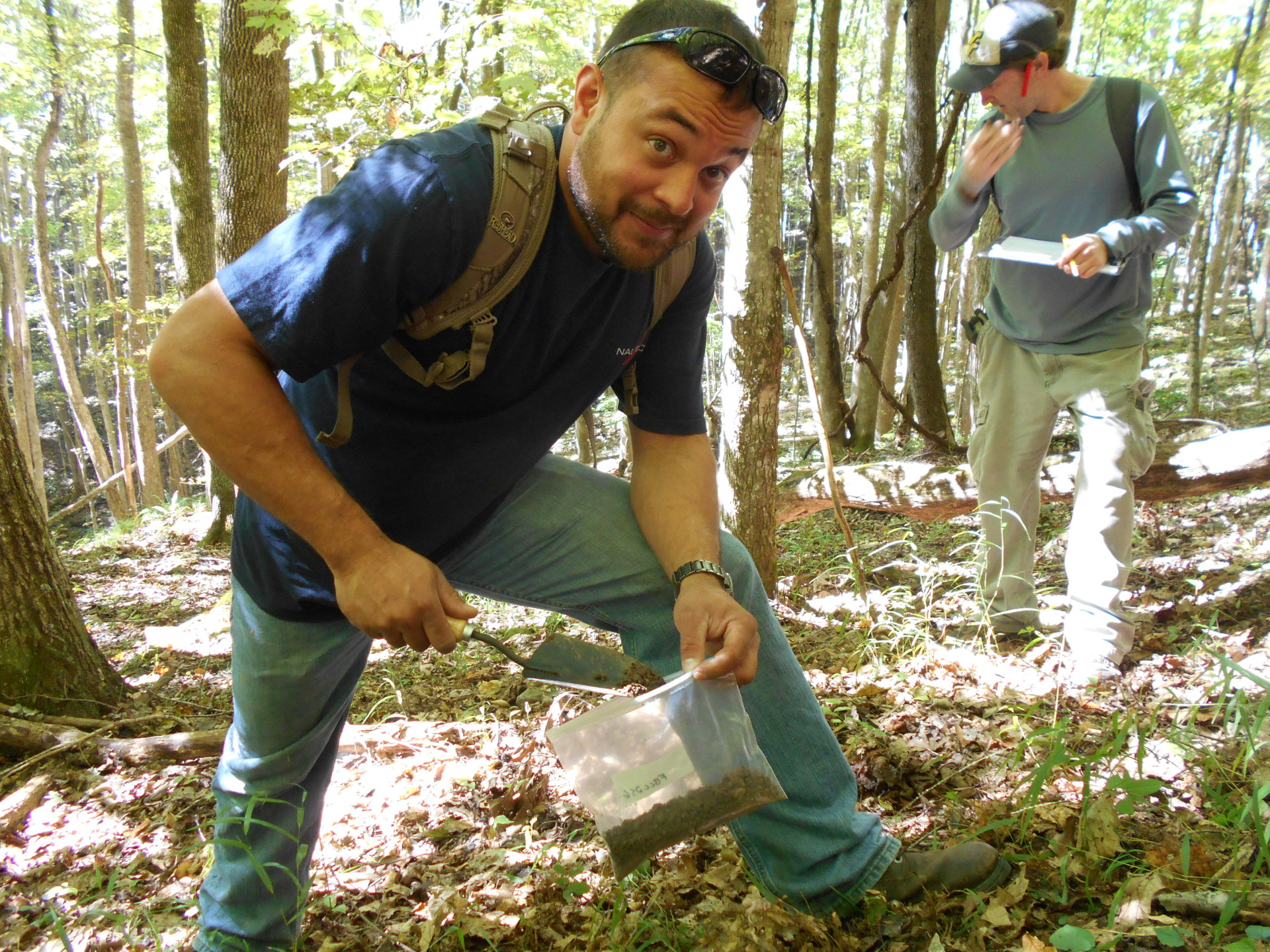 Soil Sampling at Camp Creek State Forest