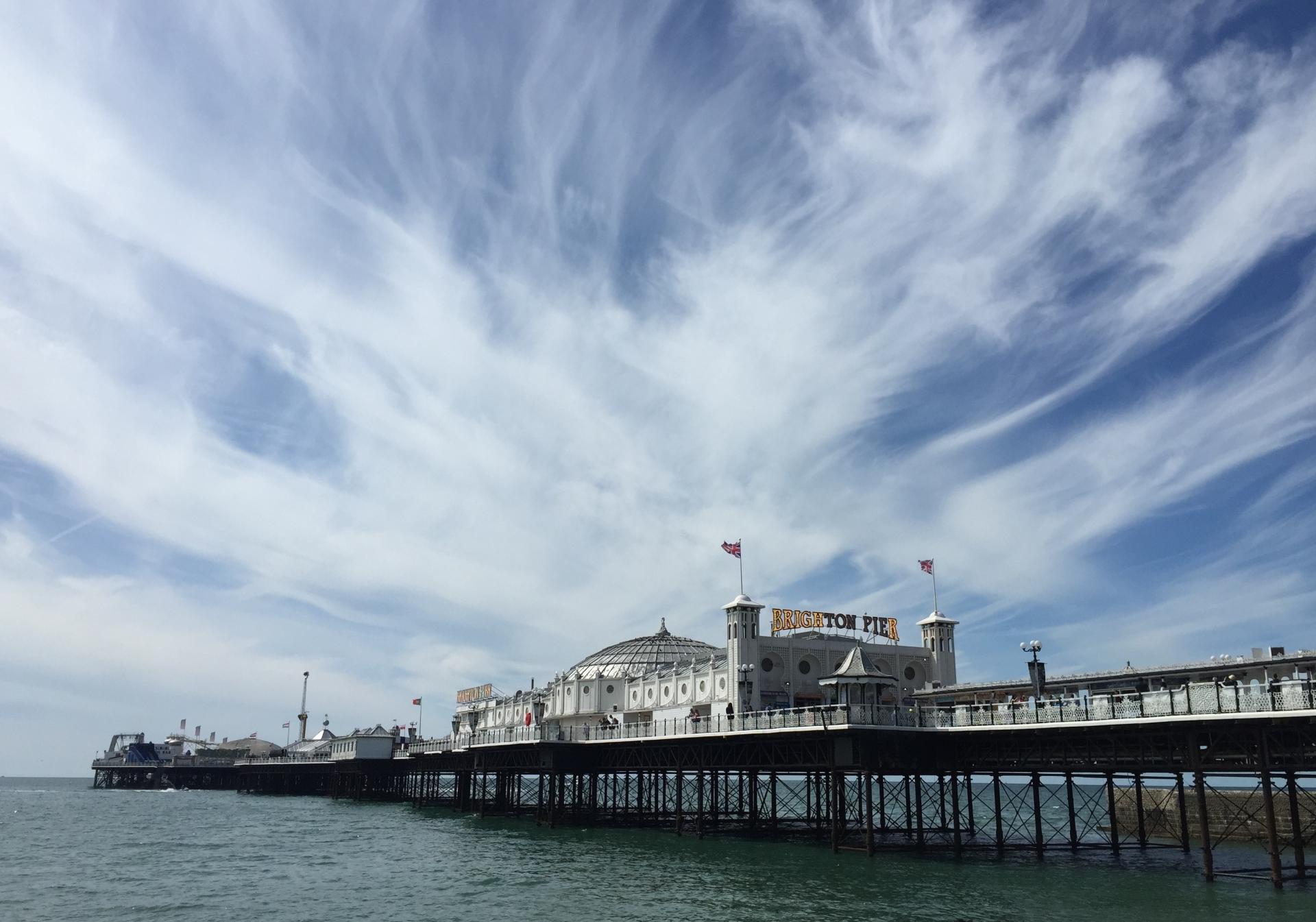 Sky over Brighton Pier
