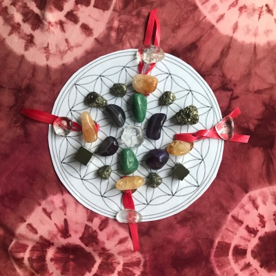 Crystal Grid for Wealth Handserenity