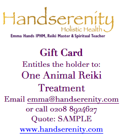 Handserenity Animal Reiki Voucher